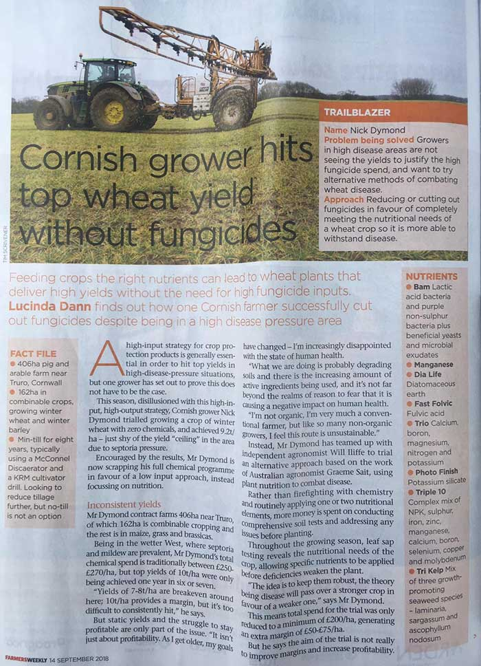 agricultural trial in the farmer's weekly