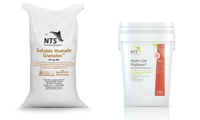 nts soluble humate granules and nutri-life platform